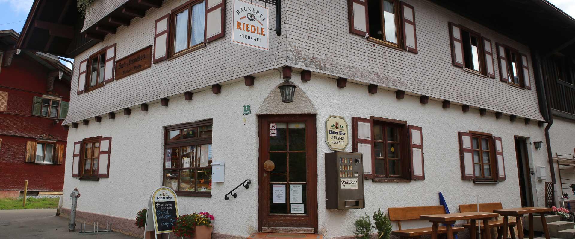 Bäckerei Riedle Gebäude
